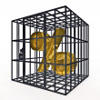 Stock Photo: Caged percentage