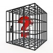 Stock Photo: Caged question