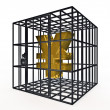 Stock Photo: Caged yen