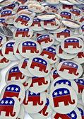 Republican badges — Stock Photo