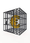 Caged euro — Stock Photo