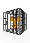 Caged nuclear — Stock Photo