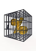 Caged percentage — Stock Photo