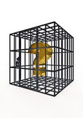 Caged dollar — Stock Photo