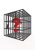 Caged question — Stock Photo