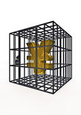 Caged yen — Stock Photo