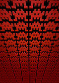 Space invaders background — Stock Photo