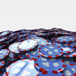 Stock Photo: Poker chip pile