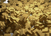 Wooden puzzle background — Stock Photo