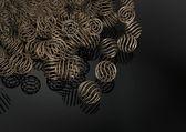 Eleganta mässingsbricka sfärer bakgrund — Stockfoto