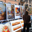 Market painting. Rome. — Stock Photo