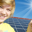 Stock Photo: Thumbs up - solar energy