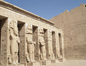 At Habu Temple, Luxor, Egypt — Stockfoto