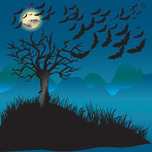 Bats flying in the moonlight — Stock Photo