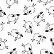 Cute sheeps over white background — Stock Photo