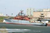Military ship — Stock Photo