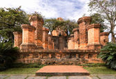 Columns of cham temple in Vietnam — Stock Photo