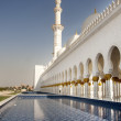 Sheikh Zayed Mosque side view - Stock Photo