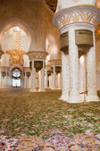Sheikh Zayed Mosque prayer room — Stock Photo