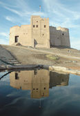Fort reflection in water — Stock Photo