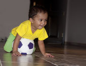 Infant Playing Soccer — Stock Photo