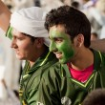 Pakistani Supporters — Stock Photo