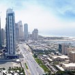 media city dubai and westin hotel — Stock Photo