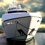 Sunseeker Yacht at DBIS — Stock Photo