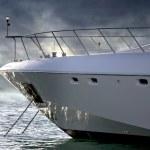 A luxury Yacht Sideways — Stock Photo #9921908