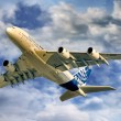 Stock Photo: Airbus 380 Flying
