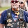 Bikers at Peace March — Stock Photo