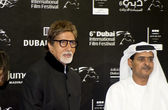 Big B with DIFF Chairman Abdul Hamid Juma — Stock Photo
