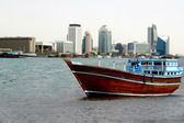 Old wooden dhow boat — Stock Photo