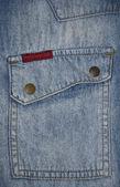 Džínové kapsa — Stock fotografie