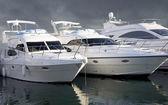 Triple Yachts — Stock Photo