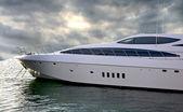 A luxury Yacht Sideways — Stock Photo