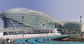 Yas Hotel and Yas Marina Circuit — Stock Photo