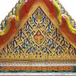 The beautiful Thai-style temple roof. - 图库照片