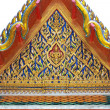 The beautiful Thai-style temple roof. - Foto de Stock