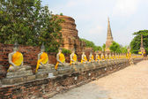 Ancient Buddha, Ayutthaya, Thailand. — Stock Photo