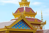 Top of Thai temple in Buddha temple — Stock Photo