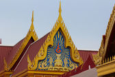 Top of Thai temple in Buddha temple — Stockfoto