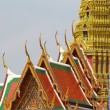 Beautiful Thai style triangle on the temple roof — Stock Photo #10342750