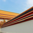 Stock Photo: The roof in a Thai temple.