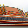 Stock Photo: The roof in a Thai temple, Bangkok