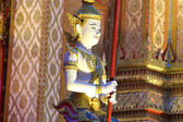 Angel statue inside the Thai temple. — Stock Photo