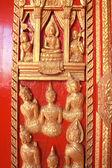 Thailändsk design av dörren — Stockfoto