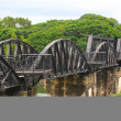 Bridge over the River Kwai in Thailand — Stock Photo
