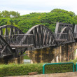 Stock Photo: BRIDGE OVER RIVER KWAI, THAILAND