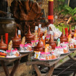 Stockfoto: Offering dedicated to Buddhist monks